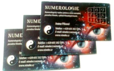 Vizitky numerologie